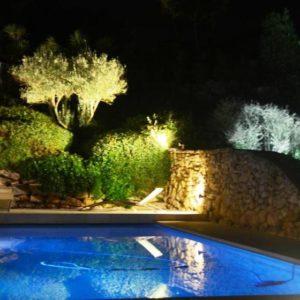 Villa, mariage au bord de la piscine